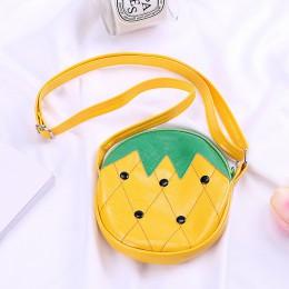 Owoce w stylu kreskówki torba dla dzieci dziewczyny Mini monety portfel etui truskawka/arbuz/ananas pieniądze portmonetka na dro