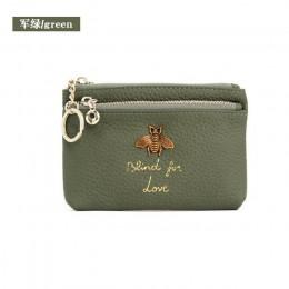 CICICUFF marki prawdziwej skóry portmonetka kobiety Mini zmień torebki dzieci kieszonka na monety portfele brelok do kluczy uchw