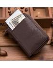Bank/ID/posiadacz karty kredytowej portfel kobiety/mężczyźni czerwony/kawa/niebieski/czarny/pomarańczowy podwójny zamek PU skóra