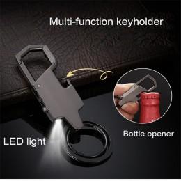 Bycobecy nowy z podświetleniem led etui na klucze wisiorek otwieracz samochodowy breloczek na klucze metalowe kreatywne męskie d