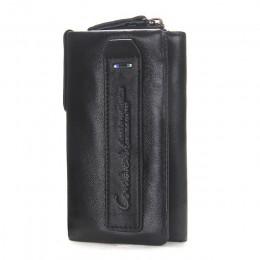 CONTACT'S prawdziwej skóry mężczyzn portfel na klucze mały mężczyzna torebka z kieszonką na monety brelok człowiek etui gospodyn