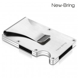 Letnie wąskie etui na karty kredytowe aluminiowe etui na dowód osobisty portfel męski z RFID ochrona przed kradzieżą