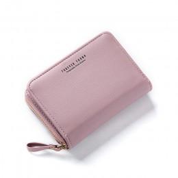 WEICHEN duża pojemność kobiety portfel na karty Zipper Concertine Fold etui na karty kredytowe wysuwana ID portfel na karty dams