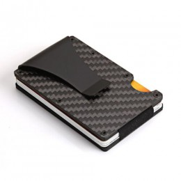 Mężczyźni kobiety etui na karty kredytowe Anti Protect blokowanie portfel rfid przenośny identyfikator posiadacza karty klip Por