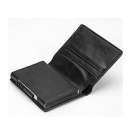 BISI GORO moda Unisex metalowe etui na karty kredytowe z RFID Anti-theft portfel portmonetka inteligentny portfel 7 kolorów dla
