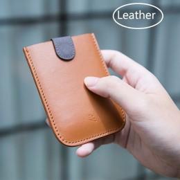 DAX V2 skórzane etui na karty Mini Slim przenośne ciągnięte mężczyźni portfel na karty kredytowe gradient kolorów 5 kart pieniąd