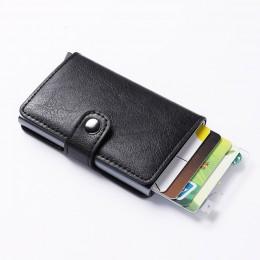 Kolorowe pudełko etui do kart kredytowych dla mężczyzn kobiety metalowy portfel rfid Aluminium męski posiadacz karty profesjonal