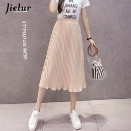 Jielur 6 kolory koreański mody spódnica letnia kobiet szyfonowa wysokiej talii plisowana spódnica kobiet S-XL Harajuku Faldas Mu