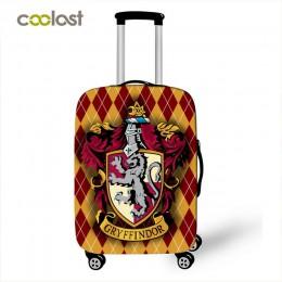 Hogwart Gryffindor Slytherin pokrywa bagażu akcesoria podróżne elastyczny wózek przypadku pokrowiec na walizkę na 18-32 cal