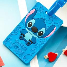 Kawaii Doraemon Tag bagażowy śliczne akcesoria podróżne Tag żel krzemionkowy walizka ID Addres Holder bagaż na pokład Tag przeno