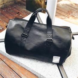 Kobiety mężczyźni torba podróżna unisex torebka torba plażowa na ramię Crossbody torba PU duża pojemność moda pary pakiet Duffel