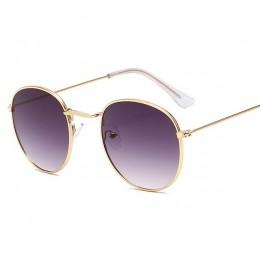 LeonLion 2019 klasyczna mała ramka okrągłe okulary kobiety/mężczyźni marka projektant aluminiowe lustrzane okulary przeciwłonecz