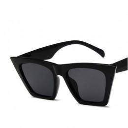 2019 nowe okulary przeciwsłoneczne marki kwadratowe okulary spersonalizowane oczy kota kolorowe okulary przeciwsłoneczne trend u