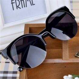 Oculos De Sol Feminino 2016 nowych moda w stylu retro designerska Super okrągłe okrągłe okulary kocie oko damskie okulary okular