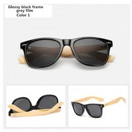 Bambusowe okulary przeciwsłoneczne mężczyźni kobiety gogle podróżne okulary przeciwsłoneczne Vintage drewniane nogi okulary moda