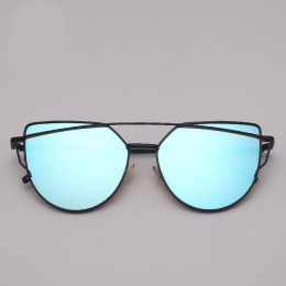 RBROVO 2018 marka projektant okulary przeciwsłoneczne cat eye kobiety w stylu Vintage metalowe okulary odblaskowe dla kobiet lus