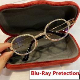 2019 Blu-Ray Pretection Retro okrągłe okulary przeciwsłoneczne damskie w stylu Vintage Steampunk okulary mężczyźni przezroczyste
