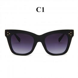 Oulylan klasyczne okulary przeciwsłoneczne Cat Eye damskie Vintage ponadgabarytowe okulary przeciwsłoneczne odcienie kobiece luk