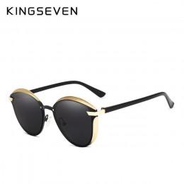 KINGSEVEN okulary przeciwsłoneczne cat eye kobiety spolaryzowane moda damska okulary przeciwsłoneczne damskie Vintage odcienie ó