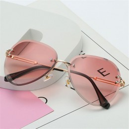 Oulylan okulary przeciwsłoneczne bezramkowe damskie marka projektant okulary przeciwsłoneczne odcienie gradientowe soczewki do c