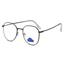 Zilead Polygon metalowe blokujące niebieskie światło okulary blokujące ramki mężczyźni i kobiety gry komputerowe gogle okulary o