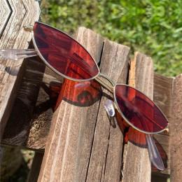 KUJUNY damskie okulary przeciwsłoneczne Cat Eye śliczne seksowne marki dizajnerskie okulary lato Retro mała ramka czarne czerwon