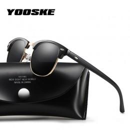 YOOSKE 2020 spolaryzowane okulary przeciwsłoneczne damskie męskie klasyczne marka projektant Vintage Square okulary przeciwsłone