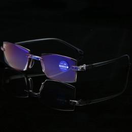 RBENN Ultralight Rimless okulary do czytania kobiety mężczyźni blokujące niebieskie światło okulary do czytania lub pracy przy k