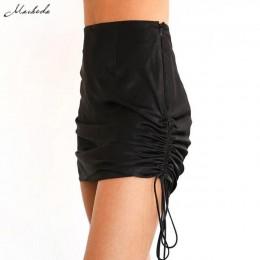 Macheda Fashion wysokiej talii spódnica ołówkowa kobiet spódnice bodycon lato regulowane stałe panie Casual biuro Mini spódnica