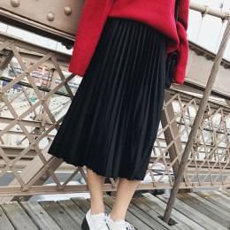 2019 nowa wiosna jesień zima wysokiej zwężone Skinny kobiet aksamitna spódnica plisowana spódnica plisowana spódnica darmowa wys