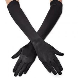 Klasyczny dorosły czarny biały czerwony szary skóry Opera/łokieć/puls Stretch Satin Finger długie rękawiczki klapy rękawiczki pa