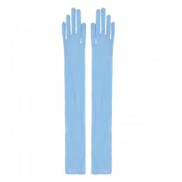 YiZYiF seksowne rękawiczki damskie gładkie Sheer Seamles długie rękawiczki rękawiczki do ochrony przed słońcem rękawiczki panny