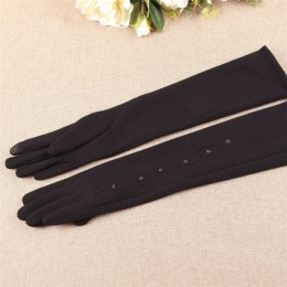 Jesień zima nowa kobieta rękawiczki średni i długi odcinek Spun Velvet Finger ekran dotykowy rękaw ocieplacze kobieta BL024N1