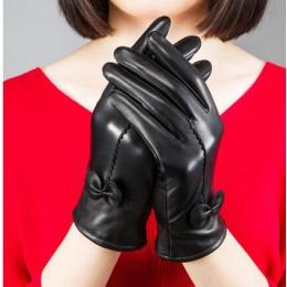 2020 damskie oryginalne skórzane rękawiczki rękawice z owczej skóry mody kobiece wiatroszczelne rękawice jesienne i zimowe mittn