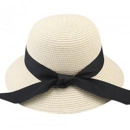 FURTALK kapelusz na lato dla kobiet kapelusz przeciwsłoneczny na plażę słomkowy kapelusz panama fedora Cap szerokie rondo ochron