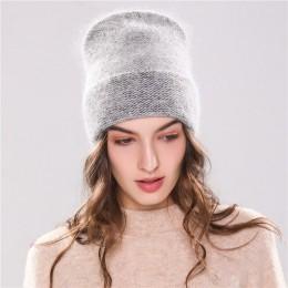 Xthree nowa damska czapka zimowa czapka z dzianiny Angola królik futra czapka zimowa dziewczyna's kapelusz jesień kobiet czapka