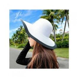 2015 Fashion Seaside czapka z daszkiem damskie letnie kapelusze przeciwsłoneczne dla kobiet duże rondo słomkowy kapelusz przeciw