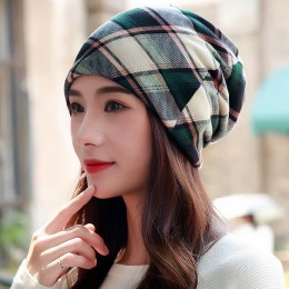 LongKeeper New Women Hat poliester dla dorosłych na co dzień z kwiatowym czapeczką dla kobiet wiosna jesień czapka damska szalik