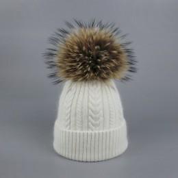 Nowe pompony damskie czapki zimowe dorywczo modne czapki szydełkowe Knitting Hat marka gruba czapka damska kapelusz kości femini