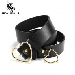 JIFANPAUL New sweetheart klamra z regulowanymi damskimi luksusowymi markami śliczne w kształcie serca cienki pasek wysokiej jako