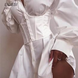 Kobiety Ultra super szeroki pas elastyczny gorset pas moda szeroki pas biodrowy odzież damska akcesoria kobiece ozdoby biały
