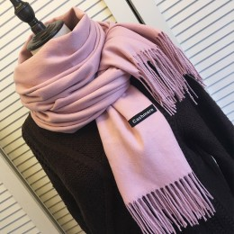 Kobiety szale kaszmirowe w jednolitym kolorze z pomponem pani zima jesień długi szalik wysokiej jakości kobiet szal gorąca sprze