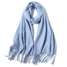 2020 moda lato kobiety szalik cienkie szale i okłady pani jednolity, damski etole hidżab długi paszmina z kaszmiru foulard szale