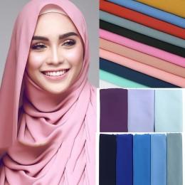 1 pc popularny styl malezja kobiety zwykły bańka szal szyfonowy hidżab wrap szale w jednolitym kolorze pałąk muzułmańskie hidżab
