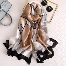 2020 luksusowe marki kobiety szalik letnie szale jedwabne lady okłady miękkie pashmina kobiet Echarpe projektant plaża stole chu