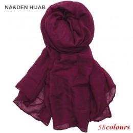 2020 hot sprzedaż szaliki kobiety zwykły Maxi hidżab szalik miękkie Soild muzułmańskie szale okłady pani wiskoza głowy szaliki m