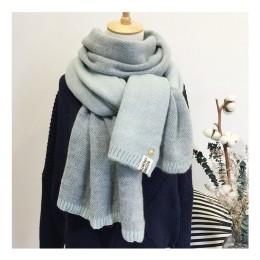 2019 nowa dama szalik śliczne zimowe wełniane szalik z dzianiny ciepłe miękkie podwójne twarz Bufandas Cachecol bawełniane szali