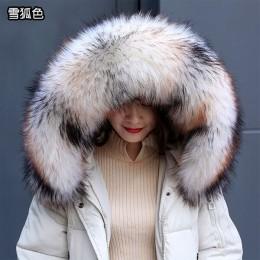 New arrival faux kołnierz z futra szopa zima kobiety szalik zimowe kurtki kaptur futro wystrój szal multicolor mężczyźni płaszcz