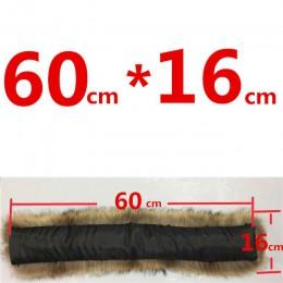 100% kołnierz z prawdziwego futra dla parki płaszcze luksusowe ciepłe naturalne futro szopa szalik kobiety duże chusty futrzane