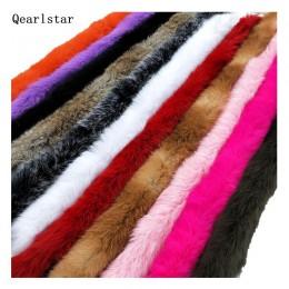 2019 100% naturalne zagęszczony królik wykończone futrem ubrania akcesoria prawdziwe futro paski na sweter płaszcz kaptur kapelu